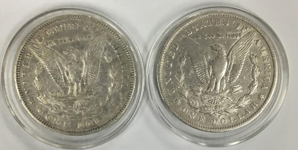 Lot 59: 1900-O & 1887-O MORGAN SILVER DOLLARS