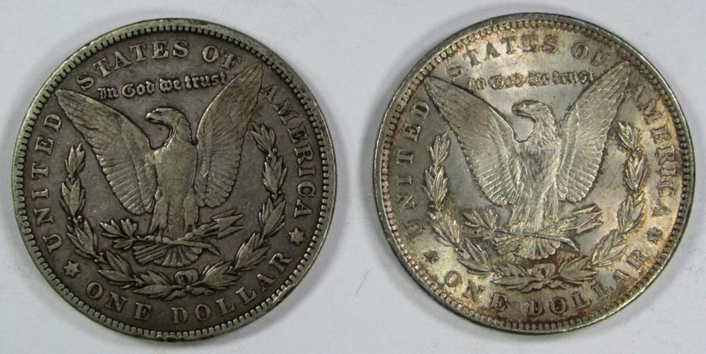 Lot 55: 1888 AU AND 1902 FINE MORGAN DOLLARS