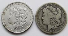 Lot 56: 1892-O VG & 1898 UNC MORGAN DOLLARS