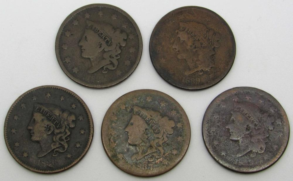 1836, 1837, 1839, 2-Early Partial Dates, Large