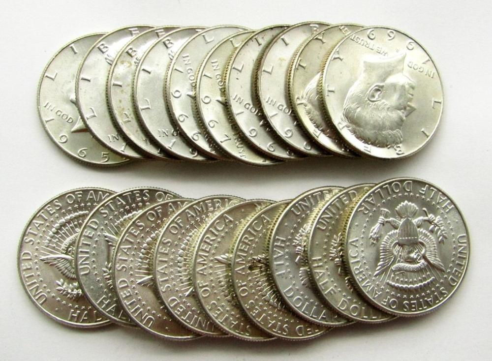 Lot 100: 20 - BU KENNEDY HALF DOLLARS 40% SILVER