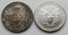 Lot 109: 2-1989 AMERICAN SILVER EAGLES