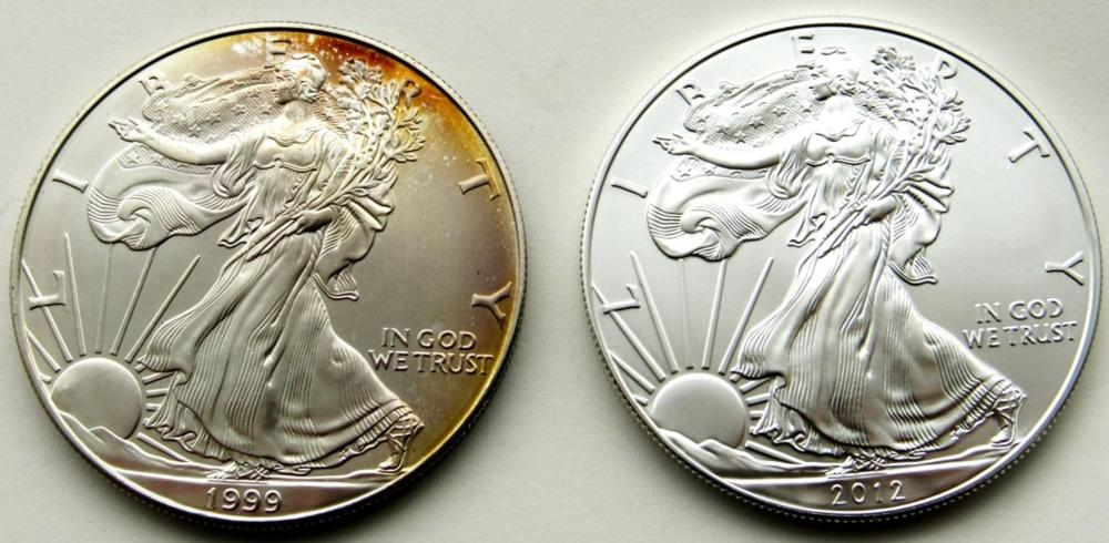 1999 & 2012 .999 SILVER ONE OUNCE EAGLE