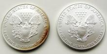 Lot 107: 1999 & 2012 .999 SILVER ONE OUNCE EAGLE