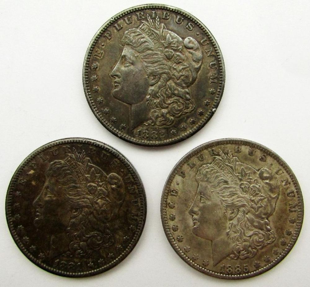 Lot 129: MORGAN DOLLAR ROLL (20) 1881-1885 AU/UNC