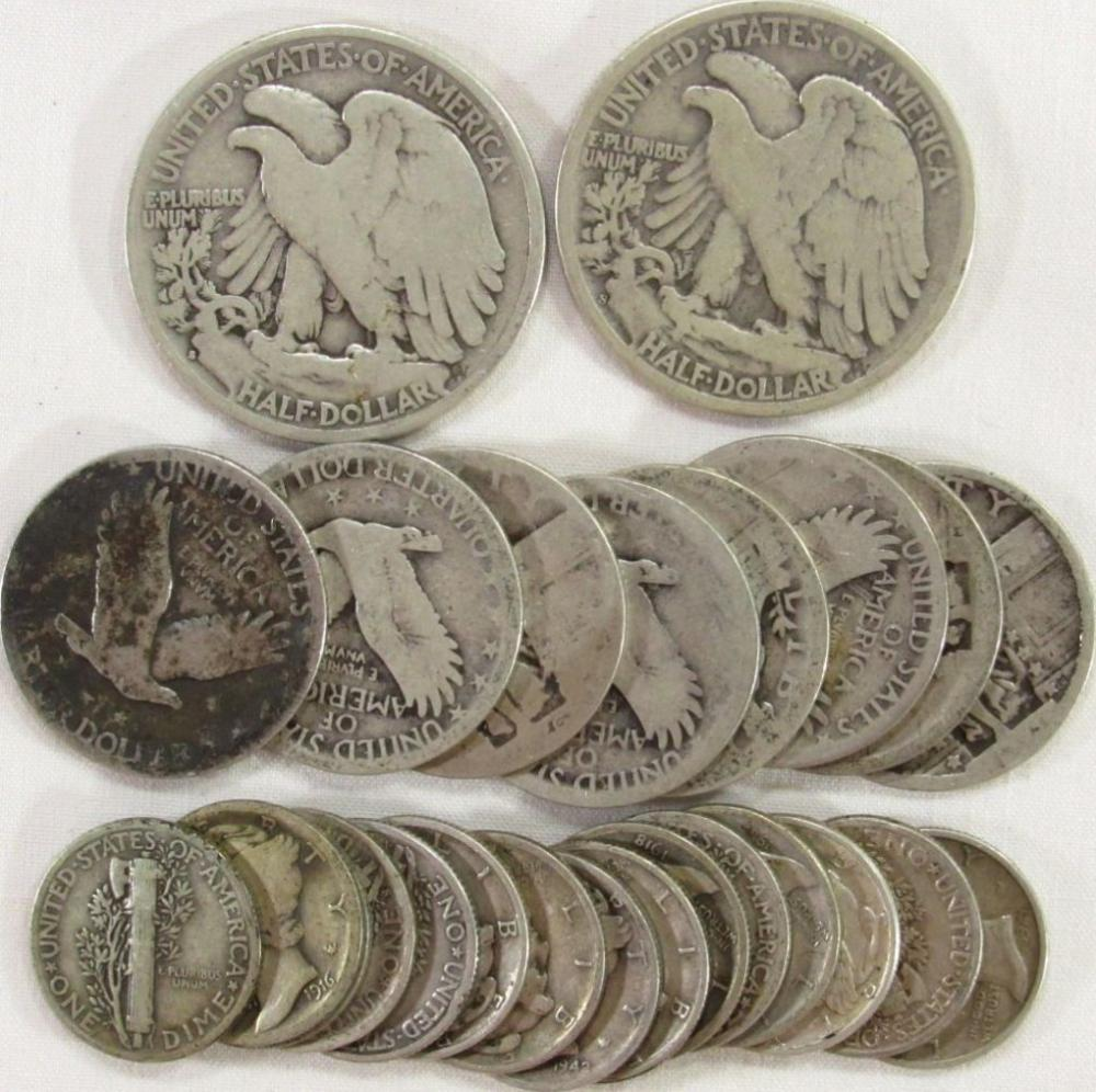 90% SILVER LOT ($4.50 FACE VALUE)