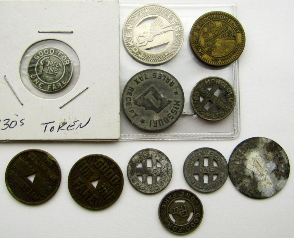 TOKEN FARE/TAX LOT: 11 TOTAL!