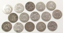 Lot 124: BARBER DIME LOT of 15 COINS