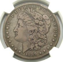 Lot 163: 1889 CC MORGAN DOLLAR NGC F12