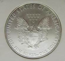 Lot 159: 2010 AMERICAN SILVER EAGLE NGC MS70 EARLY RELEASE
