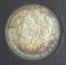 Lot 168: 1897 REDFIELD MORGAN DOLLAR BU TONED