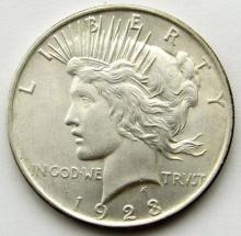 Lot 165: 1923 PEACE DOLLAR AU