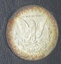 Lot 176: 1878-S REDFIELD MORGAN DOLLAR BU TONED