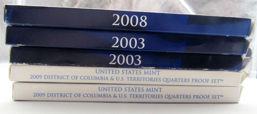 Lot 186: 5 - U.S. Proof Quarter Sets