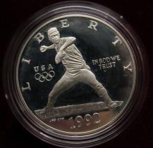Lot 185: 1992 OLYMPIC 2 COIN PROOF SET