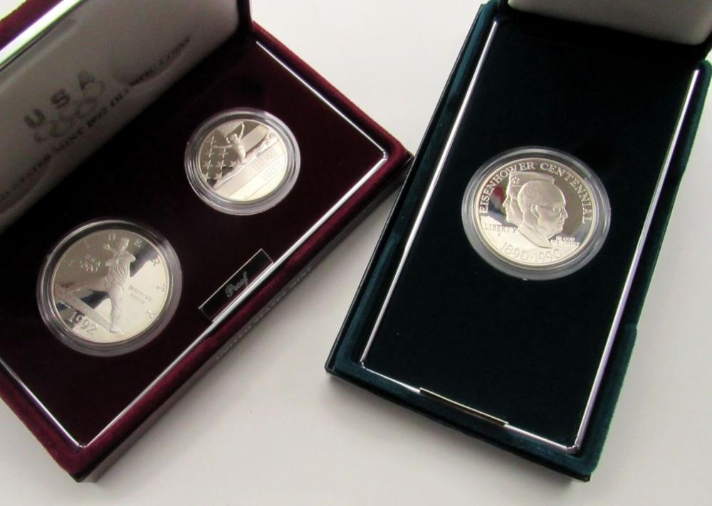 1992 OLYMPIC 2 COIN PROOF SET
