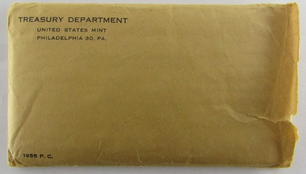 Lot 195: 1955 U.S. PROOF SET - FLAT PACK in ORG PACKAGE