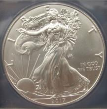 Lot 193: 2017 AMERICAN SILVER EAGLE ANACS MS70