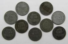 Lot 200: 1943 LOT OF 500 STEEL WHEAT PENNIES MIXED LOT