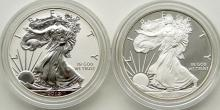 Lot 206: 2012 AMERICAN SILVER EAGLE (2)COIN REV PROOF