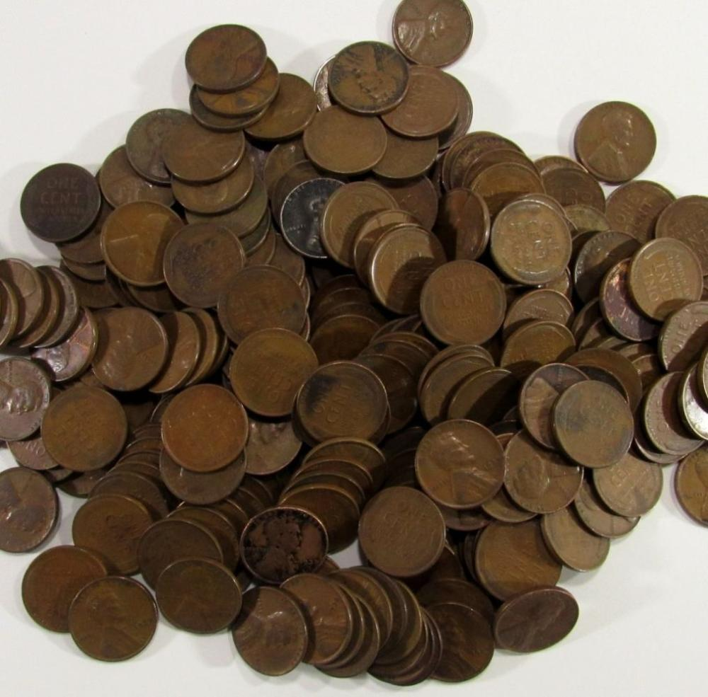 Lot 213: LOT OF 500 WHEAT PENNIES 1930-1939 P/D/S MINTS