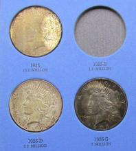 Lot 210: 7 - DIFFERENT PEACE DOLLARS IN ALBUM