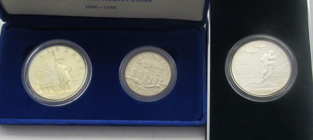 Lot 205: 1986 STATUE OF LIBERTY TWO-COIN SET, 1991
