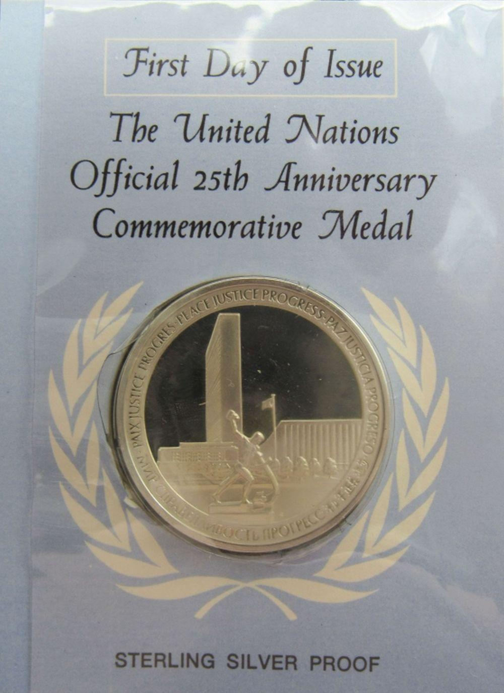 Lot 225: 1945-1970 United Nations Official 25th Anniversary