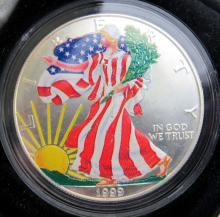 Lot 231: 1999 COLORIZED AM SILVER EAGLE;