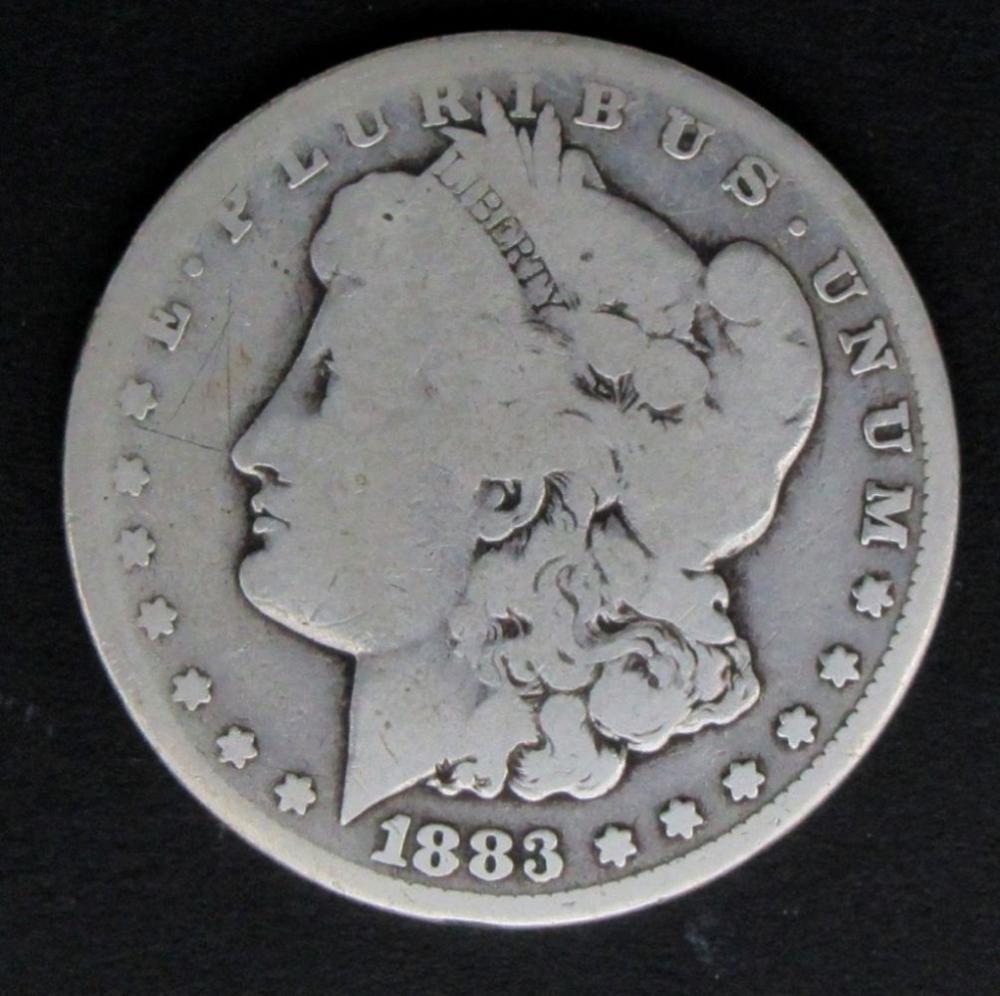 Lot 265: 1883-CC MORGAN DOLLAR VG/GOOD