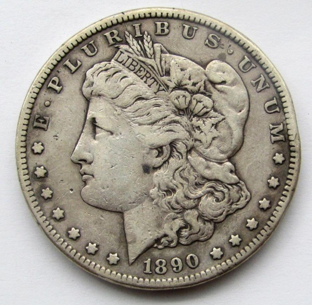 Lot 268: 1890-CC MORGAN DOLLAR VF
