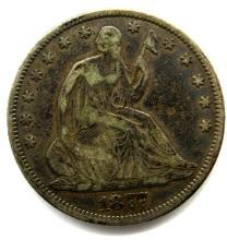 Lot 258: 1877 SEATED HALF DOLLAR VF