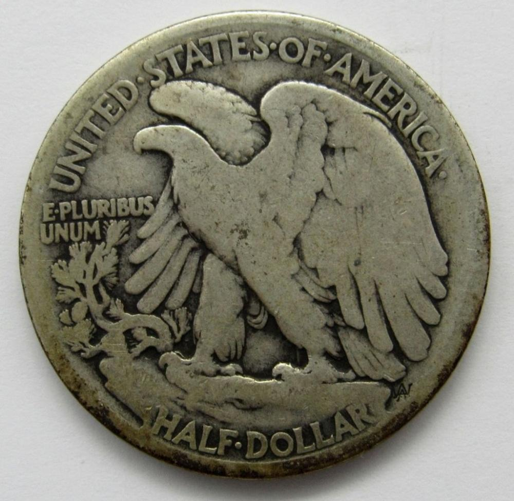 Lot 262: 1916-D OBV WALKING LIBERTY HALF DOLLAR VG