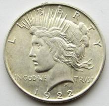 Lot 271: 1922 D PEACE DOLLAR AU