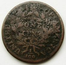 Lot 277: DRAPED BUST LARGE CENT AG