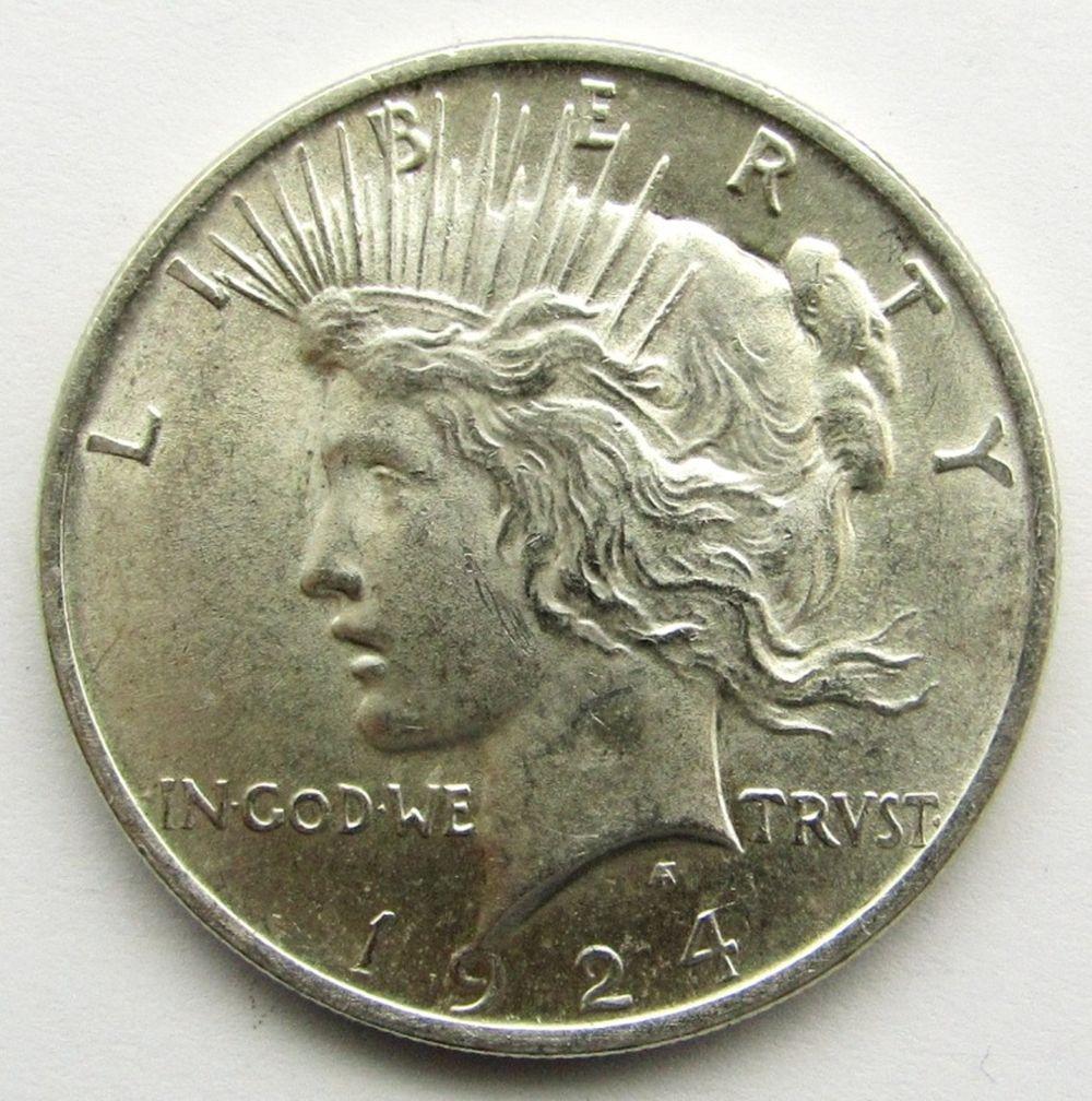 Lot 273: 1924 PEACE DOLLAR BU