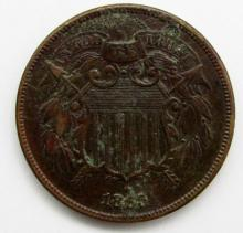 Lot 278: 1865 TWO CENT PIECE