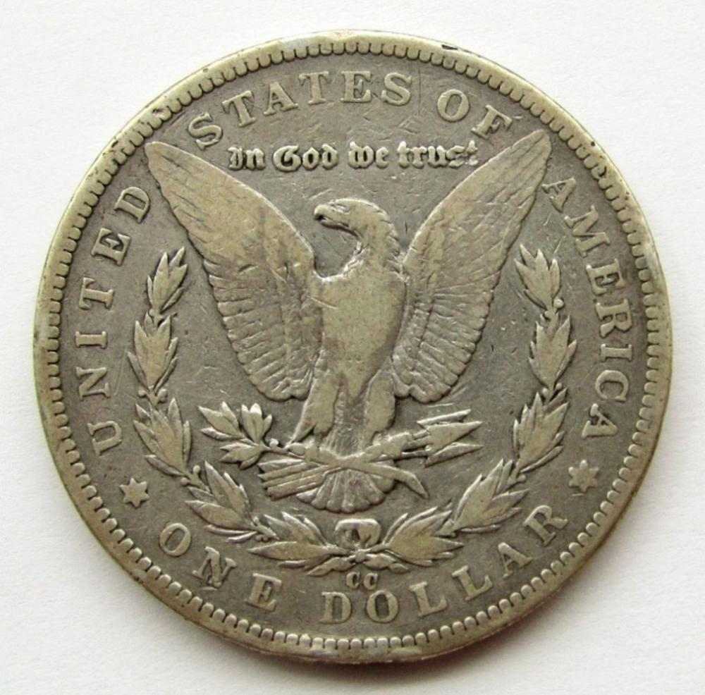 Lot 269: 1893-CC MORGAN DOLLAR VG
