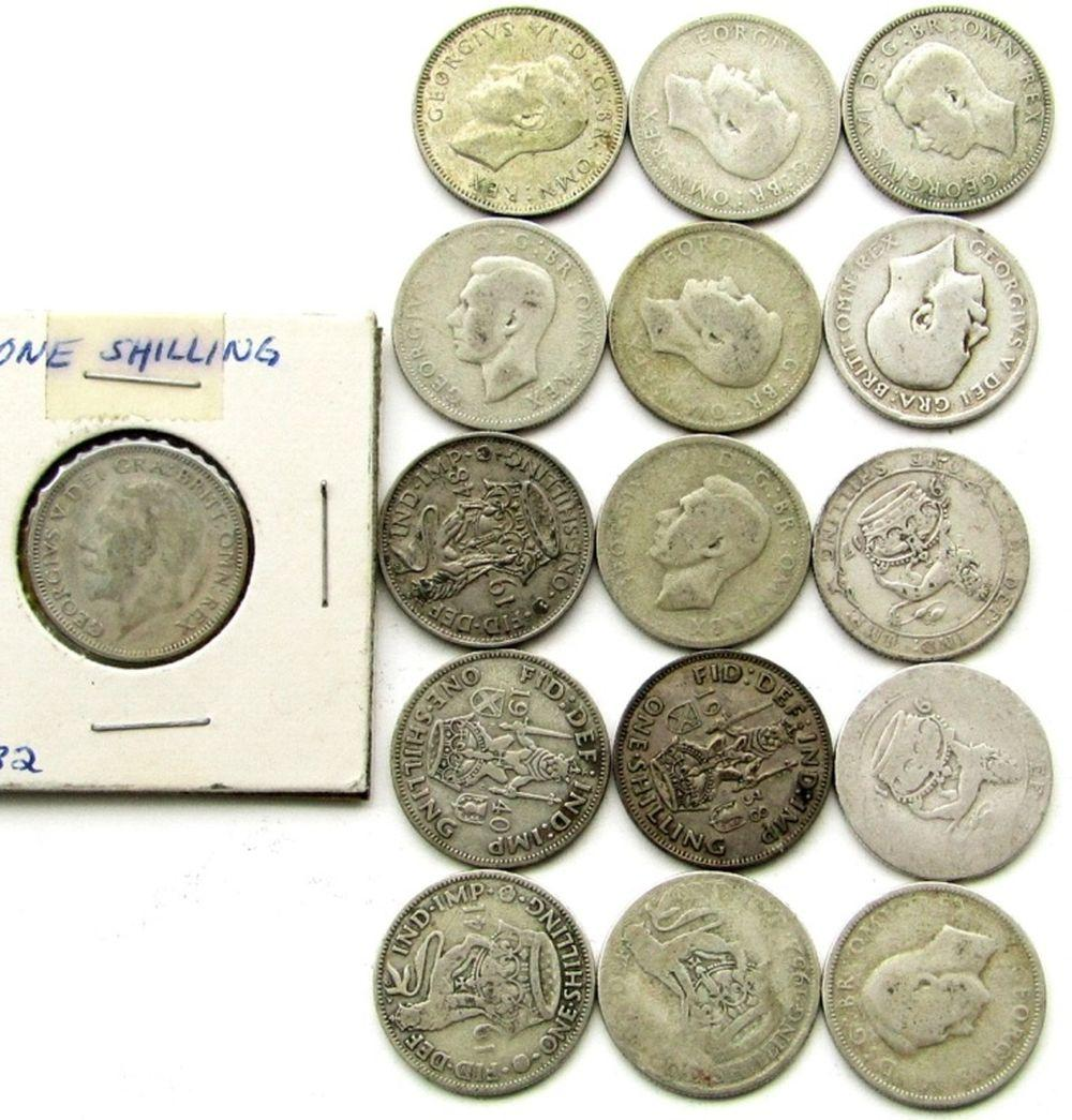 Lot 289: GREAT BRITAIN SILVER ONE SHILLING LOT