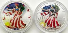 Lot 316: 1999 & 2001 AMERICAN SILVER EAGLES