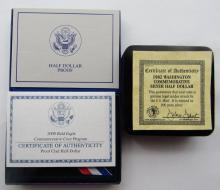 Lot 332: 1986 STATUE of LIBERTY HALF DOLLAR PROOF,