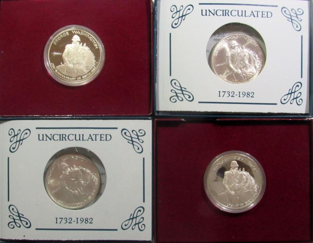 Lot 339: 4-1982 WASHINGTON COMMEM HALF DOLLARS