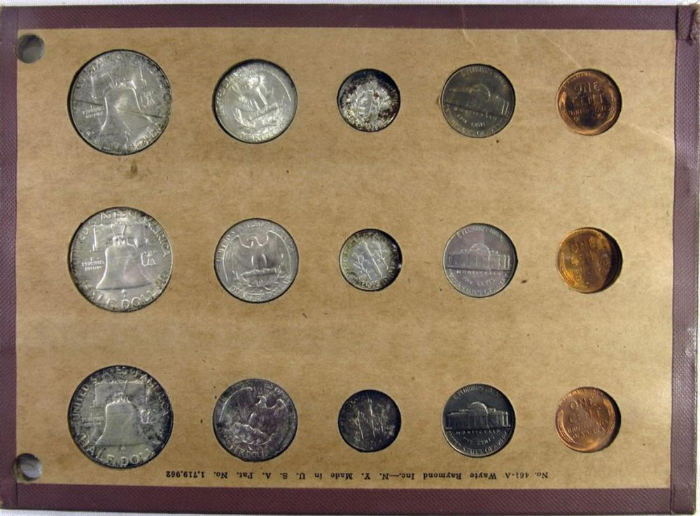Lot 337: 1954 P-D-S YEAR SETS BU