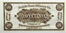 Lot 341: 1900's HAILEY COAL & MINING TRADE NOTE