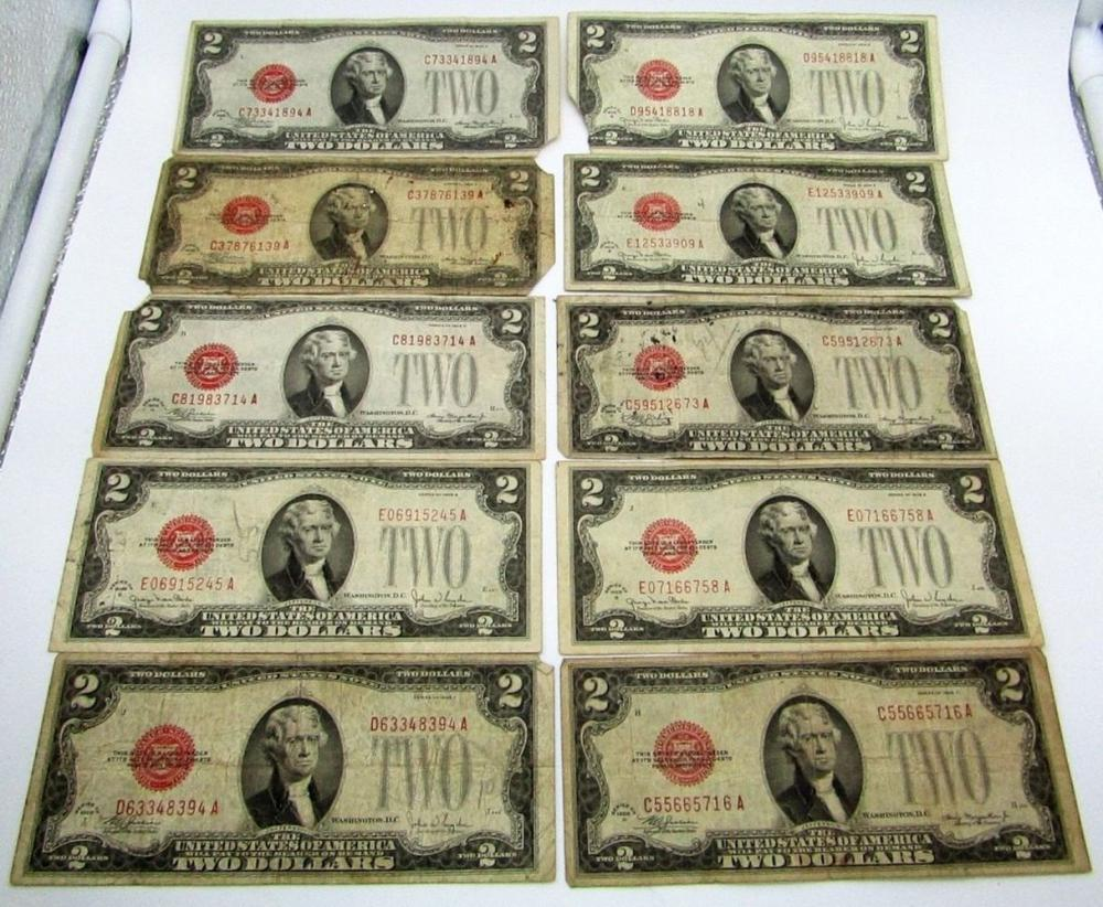 Lot 340: 10-1928 $2 RED SEAL NOTES