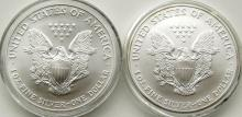 Lot 331: 2001 & 2004 AMERICAN SILVER EAGLES