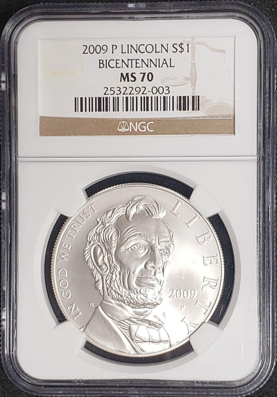 2009 P Lincoln Bicentennial Silver Dollar NGC MS 70