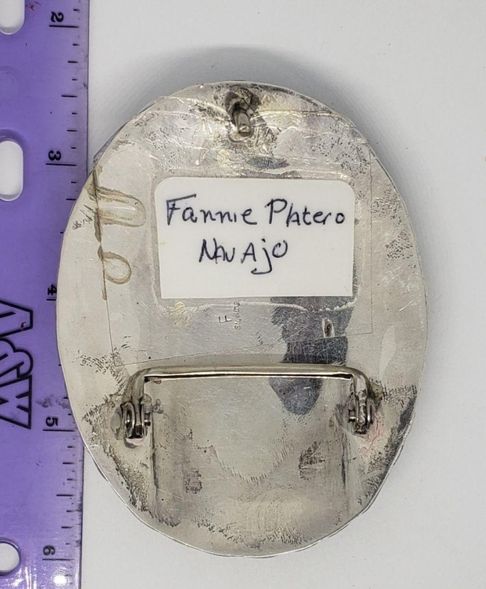 FANNIE PLATERO NAVAJO STERLING BELT BUCKEL