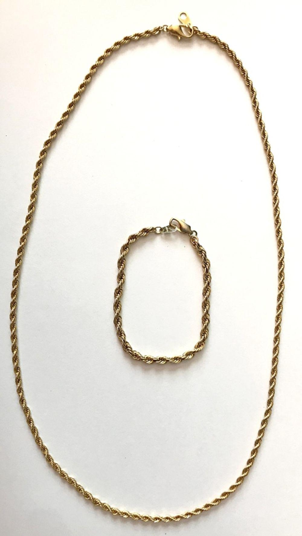 14K ROLLED GOLD PLATE NECKLACE/ CHAIN