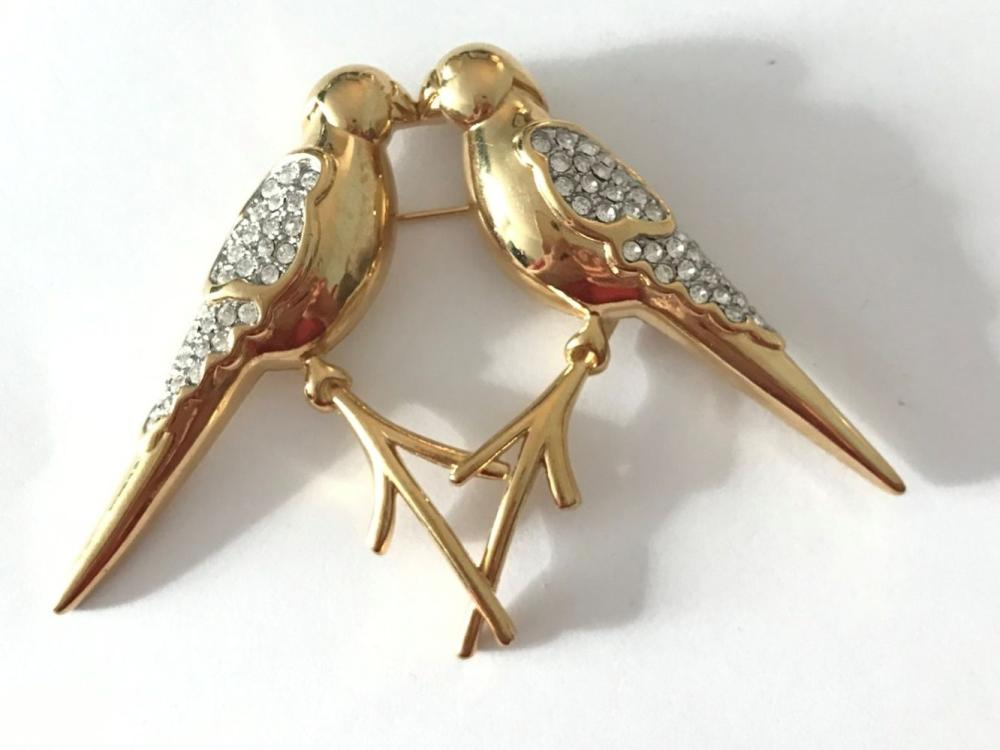 3 BIRD BROOCHES- DOVE, CRANE & OTHER!